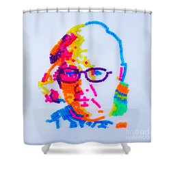 Shower Curtain featuring the painting Paul's Portrait by PainterArtist FINs husband Maestro