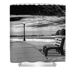 Pause Shower Curtain by Don Spenner