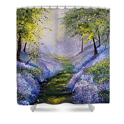 Pavilioned In Splendor Shower Curtain by Meaghan Troup