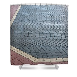 Shower Curtain featuring the photograph Paving Bricks by Pete Trenholm