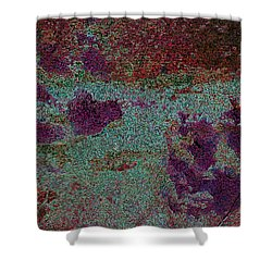 Paw Prints Cracked Purple Shower Curtain