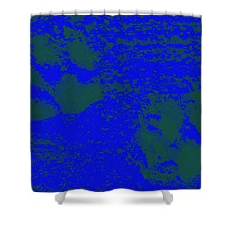 Paw Prints In Deep Blue Shower Curtain