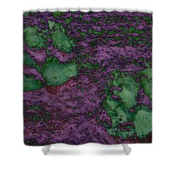 Paw Prints In Green And Mauve Shower Curtain