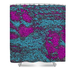 Paw Prints In Pink And Turquoise Shower Curtain