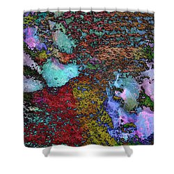 Paw Prints Lilac And Turquoise Pads Shower Curtain