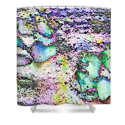 Paw Prints Vibrant Pastel Shower Curtain
