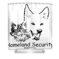Paws4critters Homeland Security Shower Curtain