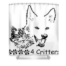 Paws4critters Shower Curtain