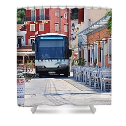 Paxos Island Bus Shower Curtain