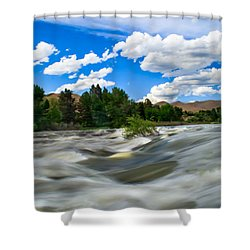 Payette River Shower Curtain by Robert Bales