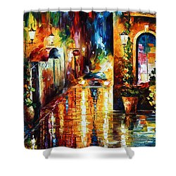Paying A Visit New Shower Curtain by Leonid Afremov