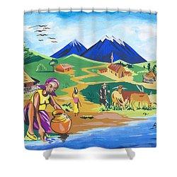 Paysage Du Nord Du Rwanda Shower Curtain by Emmanuel Baliyanga