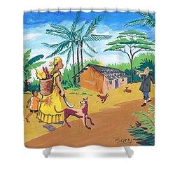 Paysage Du Sud Du Cameroon Shower Curtain by Emmanuel Baliyanga