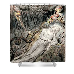 Pd.20-1950 Christs Troubled Sleep Shower Curtain by William Blake