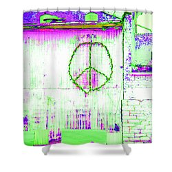 Shower Curtain featuring the photograph Peace 2 by Minnie Lippiatt