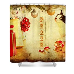 Shower Curtain featuring the photograph Peace And Joy To All by Chris Armytage