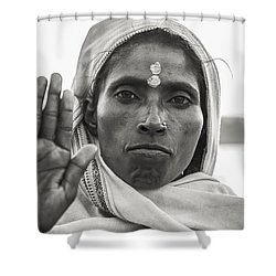 Peace Be With You Shower Curtain by Valerie Rosen