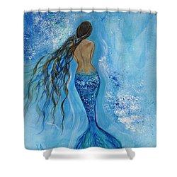 Peace Beneath Shower Curtain by Leslie Allen