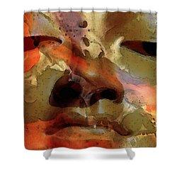 Peace Buddha - Spiritual Art Shower Curtain by Sharon Cummings