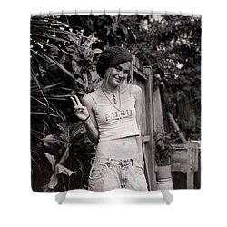 Shower Curtain featuring the photograph Peace Chick by Greg Allore