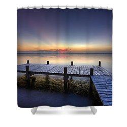 Peace Shower Curtain by Debra and Dave Vanderlaan