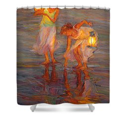 Peace Shower Curtain by Diane Leonard