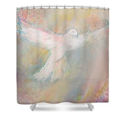 Peace Dove Shower Curtain by Anne Cameron Cutri