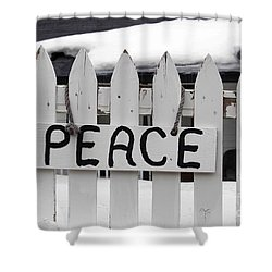 Peace Shower Curtain by Fiona Kennard