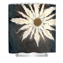 Shower Curtain featuring the painting Peace Flower by Jacqueline McReynolds