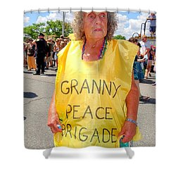 Shower Curtain featuring the photograph Peace Granny by Ed Weidman