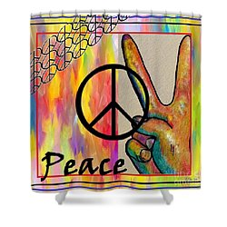 Peace In Every Color Shower Curtain by Eloise Schneider