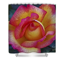 Peace In Floral Format Shower Curtain