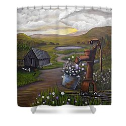 Peace In The Valley Shower Curtain by Sheri Keith