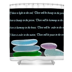 Peace In The World Shower Curtain by Barbara McMahon
