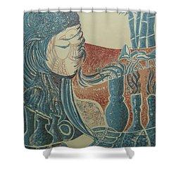 Peace Inside Us Shower Curtain by Ousama Lazkani