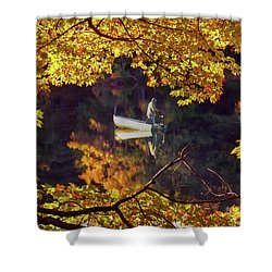 Peace Shower Curtain by Joann Vitali