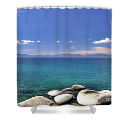 Peace - Lake Tahoe Shower Curtain