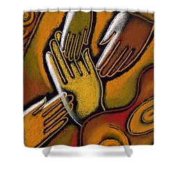 Peace Shower Curtain by Leon Zernitsky