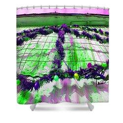 Shower Curtain featuring the photograph Peace Lights 1 by Minnie Lippiatt