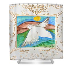 Peace Of Heaven Shower Curtain by Cassie Sears