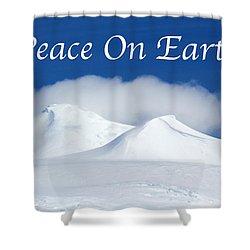 Peace On Earth Card Shower Curtain