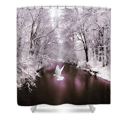 Peace On Earth   Shower Curtain by Jessica Jenney