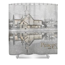 Peace On Earth Shower Curtain by Lori Deiter