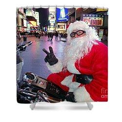 Peace Santa Shower Curtain by Ed Weidman