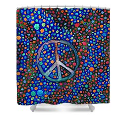 Shower Curtain featuring the painting Peace Sign by Janice Dunbar