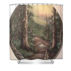Shower Curtain featuring the painting Peace Time by Megan Walsh