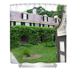 Peacefield The Old House Shower Curtain by Barbara McDevitt