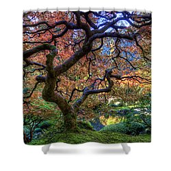 Peaceful Autumn Morning Shower Curtain