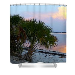 Peaceful Beach Sunrise Shower Curtain
