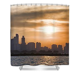 Peaceful Chicago Shower Curtain